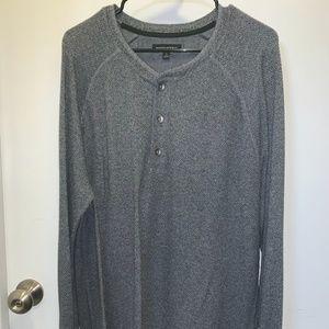 Gray Banana Republic Long-Sleeved Shirt